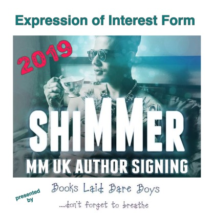 ❤️shiMMer 2019 ❤️ EXPRESSION OF INTEREST FORM ❤️ Authors, readers, bloggers.... Saturday 23rd February 2019 in Birmingham, UK Please click the link below to complete the form... http://bit.ly/2v96rrV