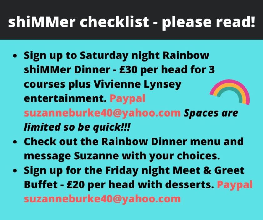 shiMMer checklist - please read!
